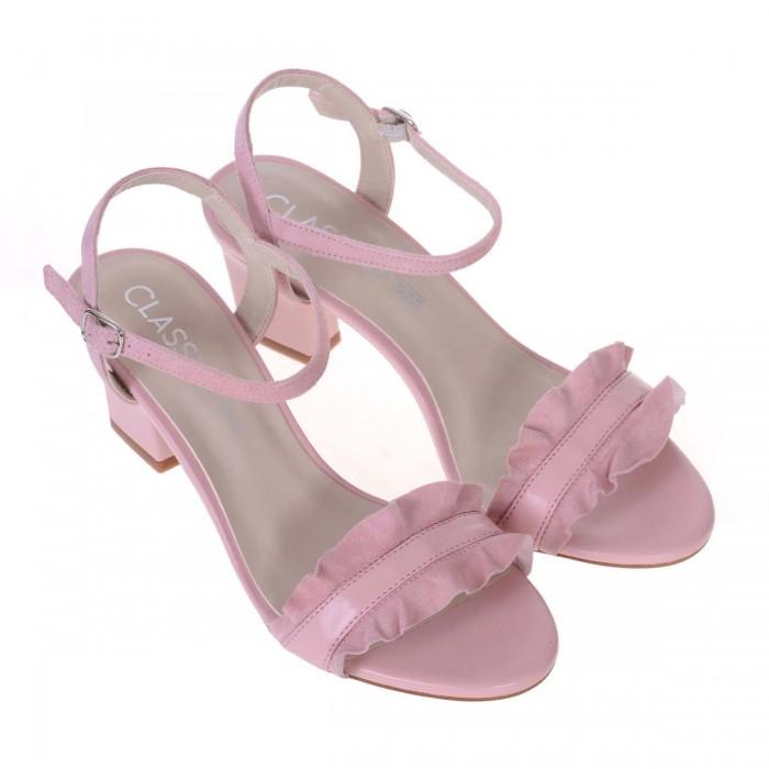 Sandale Piele Naturala Roz Pudra - Anina