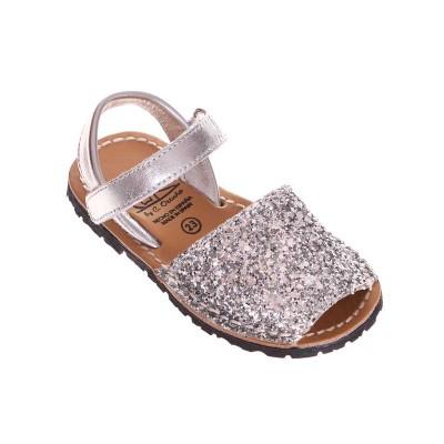 Sandale de Copii AVARCA din Glitter Argintiu - Ina