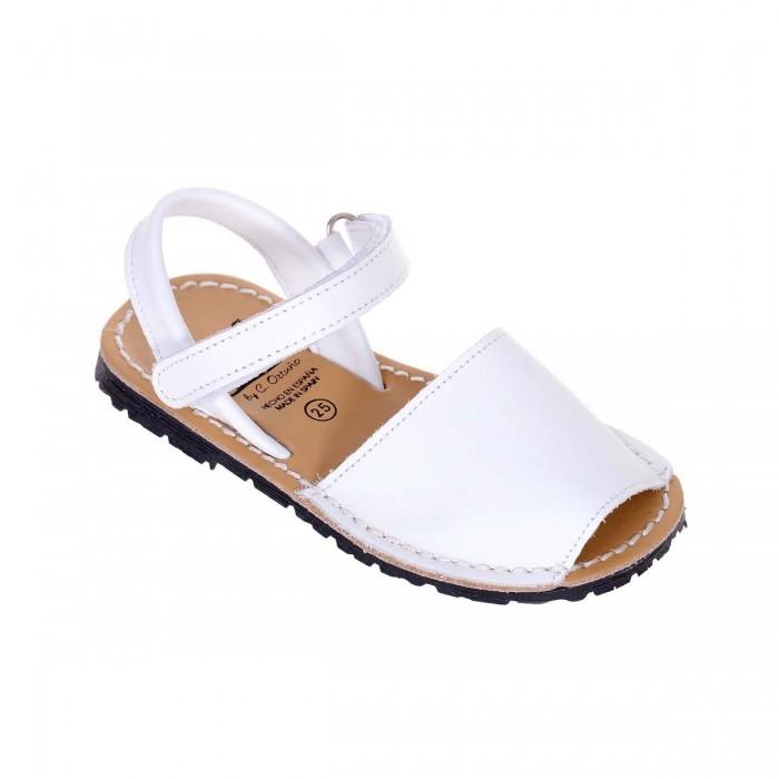 Sandale de Copii AVARCA din Piele Naturala Alba - Lia