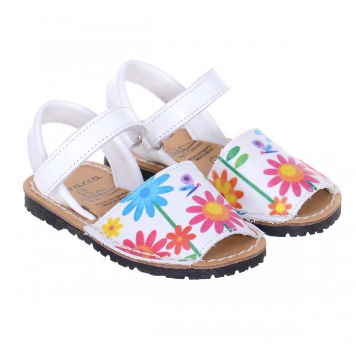 Sandale de Copii AVARCA din Piele Alba cu Imprimeu - Bia