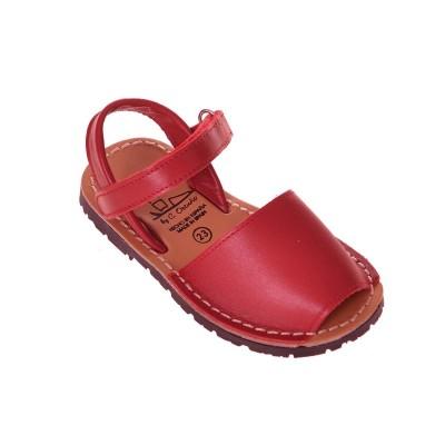 Sandale de Copii AVARCA din Piele Naturala Rosie - Lia