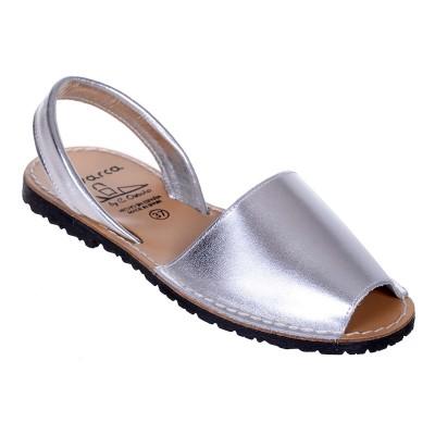Sandale AVARCA din Piele Argintie