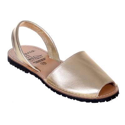 Sandale AVARCA din Piele Aurie