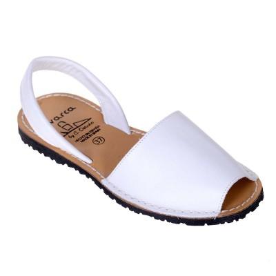 Sandale AVARCA din Piele Alba