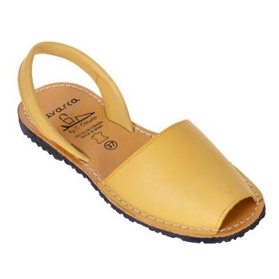 Sandale AVARCA din Piele Galbena