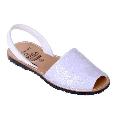 Sandale AVARCA din Glitter Alb