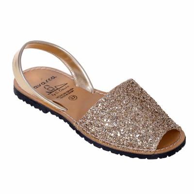 Sandale AVARCA din Glitter Auriu