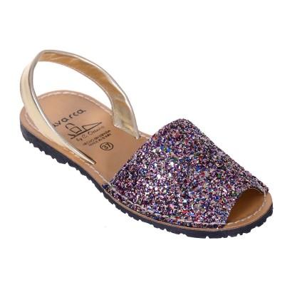 Sandale AVARCA din Glitter Multicolor