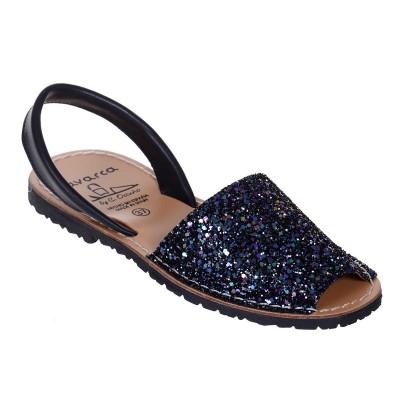 Sandale AVARCA din Glitter Bleumarin