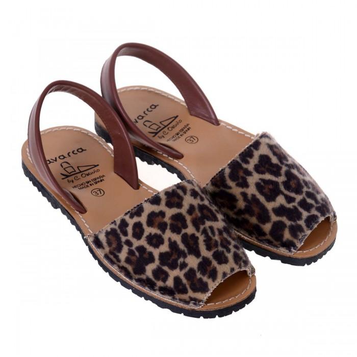 Sandale AVARCA Piele Naturala de Ponei - Animal Print