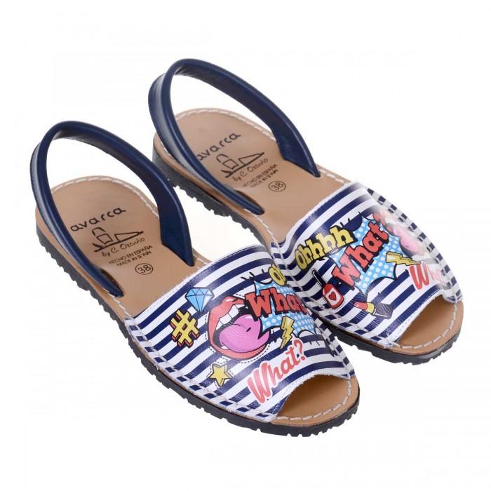 Sandale AVARCA cu Imprimeu Multicolor