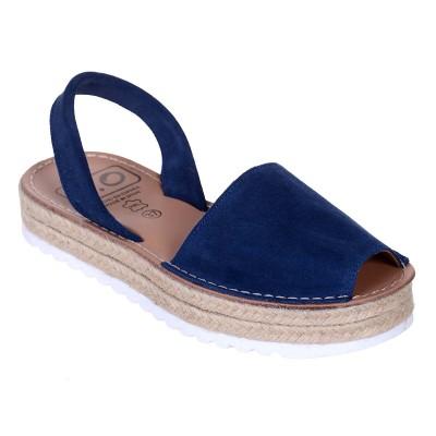 Sandale AVARCA din Piele Bleumarin