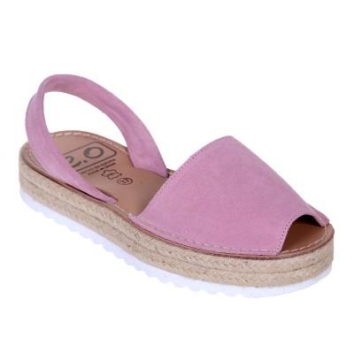 Sandale AVARCA din Piele Roz Pudra