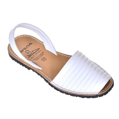 Sandale AVARCA din Piele Naturala Alba - Mira