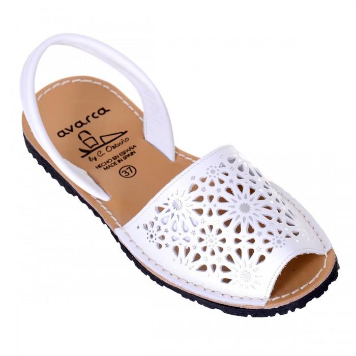 Sandale AVARCA din Piele Naturala Alba - Amy