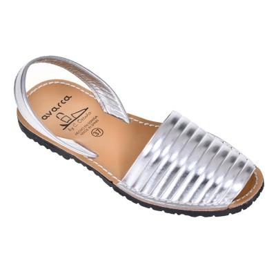Sandale AVARCA din Piele Naturala Argintie - Mira