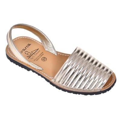 Sandale AVARCA din Piele Naturala Aurie - Mira