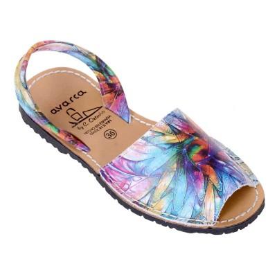Sandale AVARCA din Piele Naturala Multicolora - Amelie