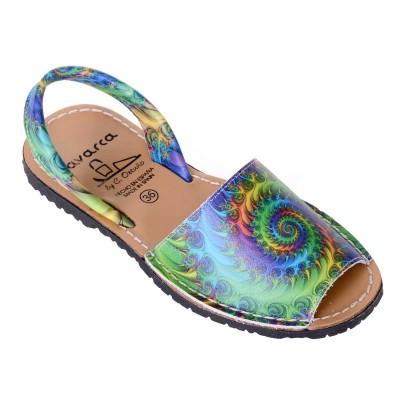 Sandale AVARCA din Piele Naturala Multicolora - Leila