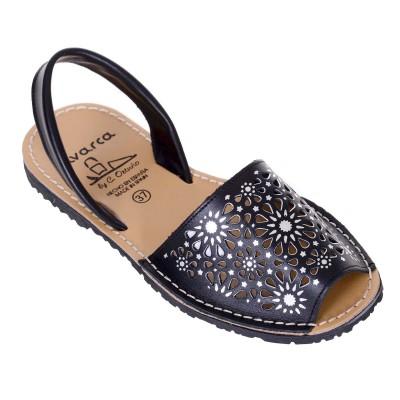 Sandale AVARCA din Piele Naturala Neagra - Amy