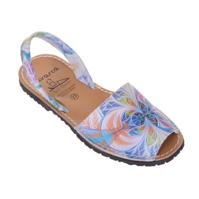 Sandale AVARCA din Piele Naturala Multicolora - Manju
