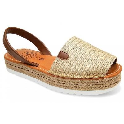 Sandale AVARCA din Iuta si Piele Naturala cu talpa dubla