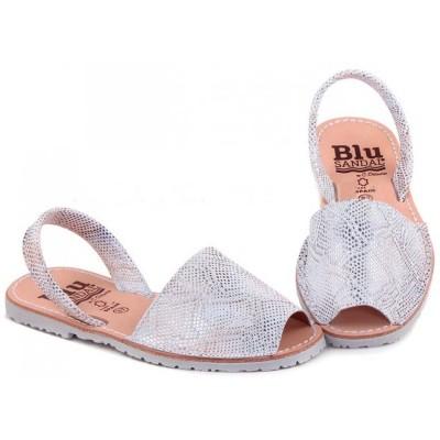 Sandale AVARCA Imprimeu Sarpe Argintiu