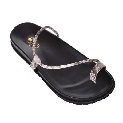 Sandale minimale de Dama Imprimeu Bej-Maro - Miriam