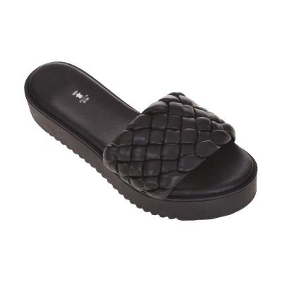 Sandale Negre de Dama tip Papuc - Lolita