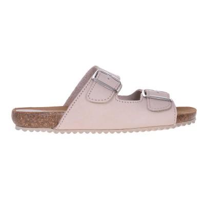 Sandale dama tip Papuc piele naturala nude - Tania