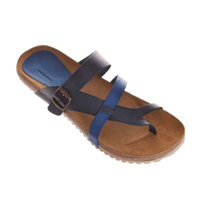 Sandale Romane din piele naturala albastra - Tao