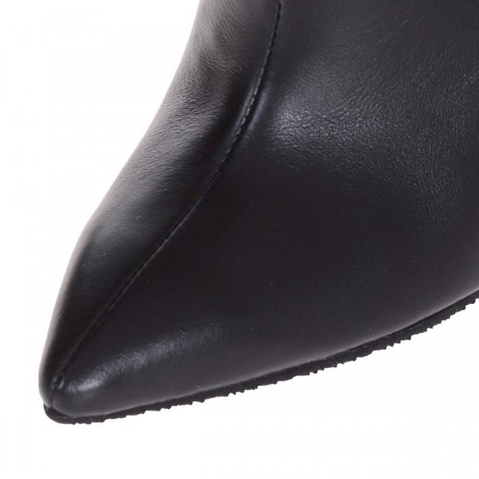 Cizme Negre Stiletto din Piele Naturala - Cod C253