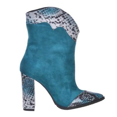Ciocate Dama Piele Albastru-Turquoise - Cod B297