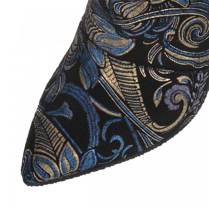 Botine Stiletto din Piele Naturala Intoarsa - Cod B250