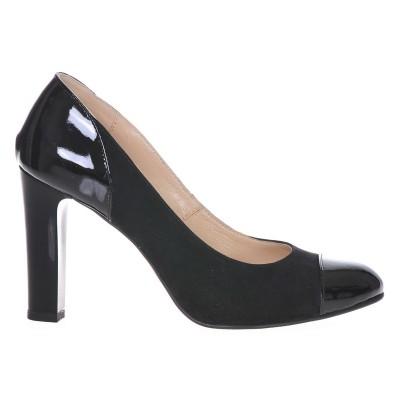 Pantofi Office Piele Naturala Neagra - Cod S196