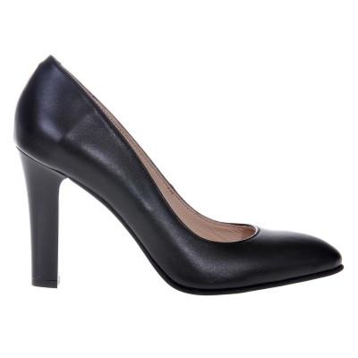 Pantofi Negri dama din Piele Naturala - Cod S473