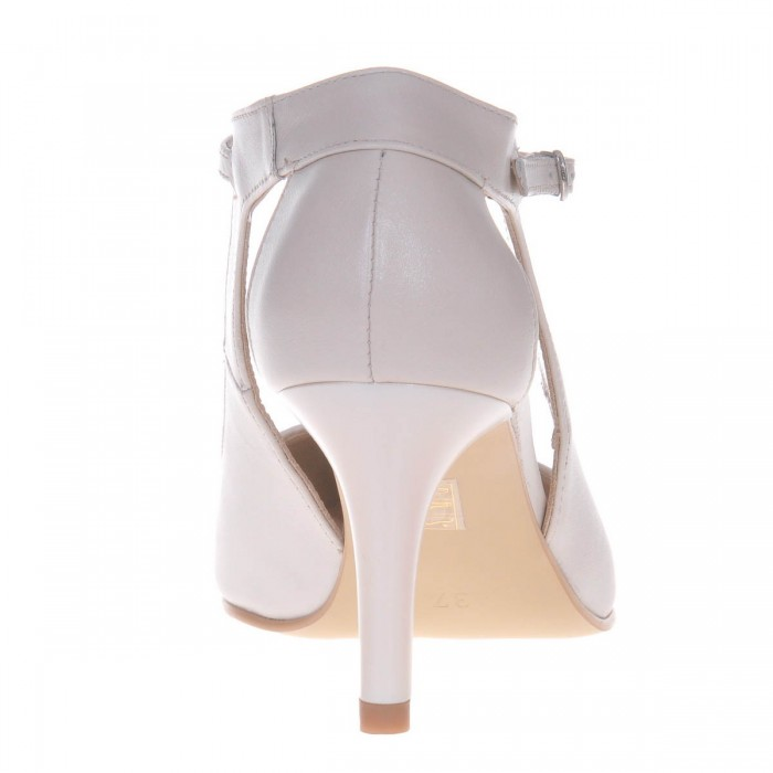 Pantofi de Mireasa din Piele Naturala Ivory - Cod S477