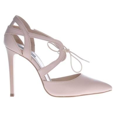Pantofi Stiletto Nude din Piele Naturala - Cod S421