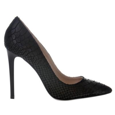 Pantofi Stiletto din Piele cu Imprimeu Sarpe- Cod S435