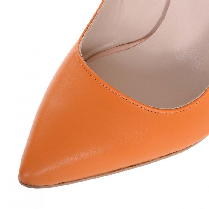 Pantofi Stiletto din Piele Naturala Mango - Cod S576