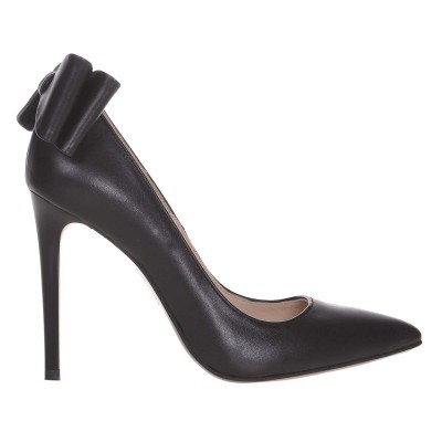 Pantofi Stiletto din Piele Naturala Neagra - Cod S630