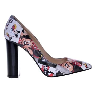 Pantofi Stiletto Disney din Piele Naturala - Cod S423