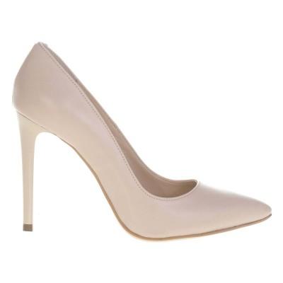 Pantofi Stiletto din Piele Naturala Nude - Cod S474
